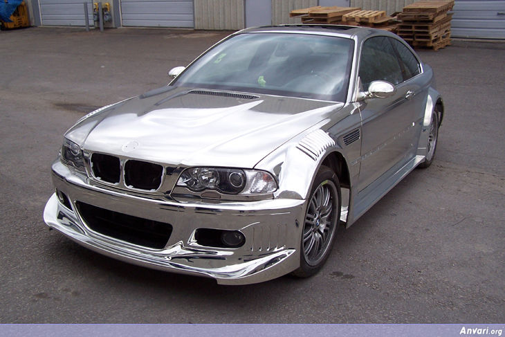 bmw m3 with full chrome paint. Black Bedroom Furniture Sets. Home Design Ideas