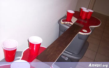 Guitar Beer Pong Table - Beer Pong Tables
