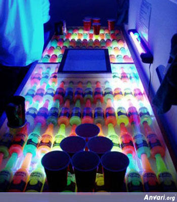 LCDBlackLight Beer Pong - Beer Pong Tables