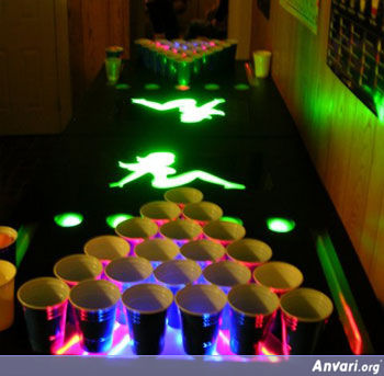 Neon Beer Pong Table - Beer Pong Tables