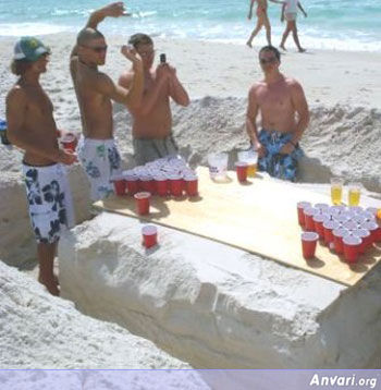 Sand Beer Pong Table - Beer Pong Tables