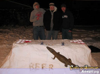 Snow Beer Pong Table - Beer Pong Tables