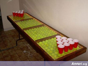 TennisBall Beer Pong Table - Beer Pong Tables