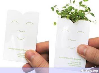 Businesscards Plants2 - Creative Business Card Design Ideas