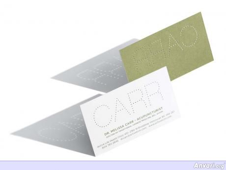 CARR Acupuncture Cards.preview - Creative Business Card Design Ideas