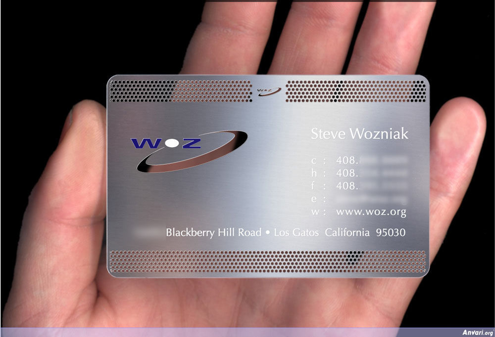 WOZMetalProof - Creative Business Card Design Ideas