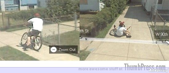 Biker On The Floor - Embarassing and Hilarious Google Maps Moments