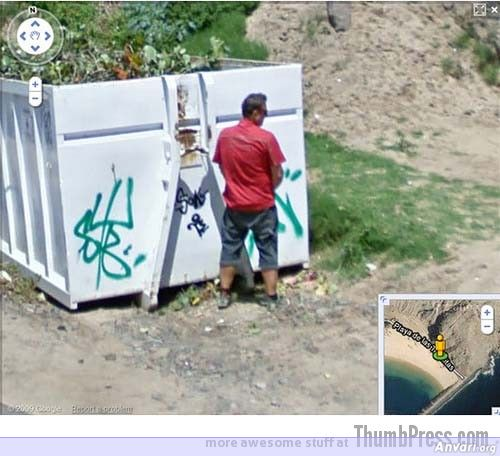 Peeing On The Beach - Embarassing and Hilarious Google Maps Moments