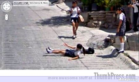 School Girl - Embarassing and Hilarious Google Maps Moments