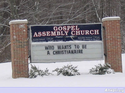 Christianaire - Funny Church Signs