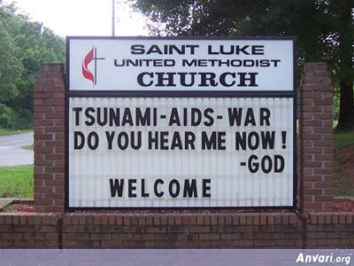 Do You Hear Me Now - Funny Church Signs