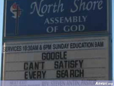 Google - Funny Church Signs