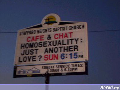 Homosexuality - Funny Church Signs