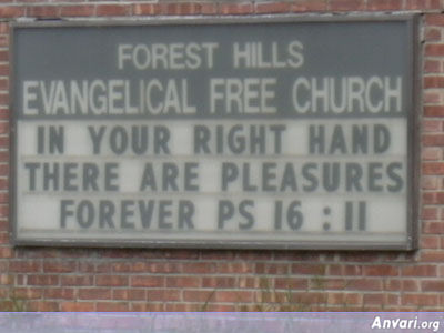 Right Hand - Funny Church Signs