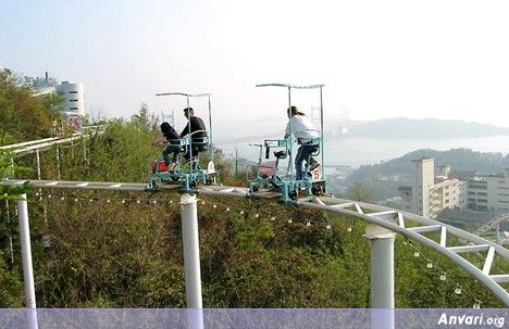 Pedal 1 - Human Powered Roller Coaster in Japan