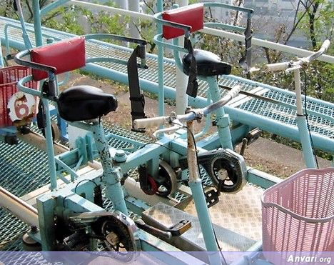 Pedal Cart - Human Powered Roller Coaster in Japan