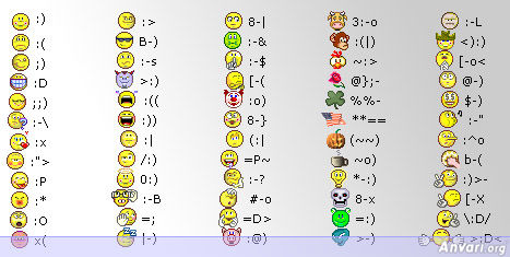 Yahoo Messenger Smilies - Online Smiley Faces and Emoticons