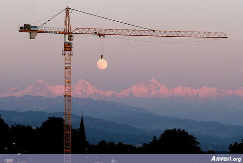 Lifting the Moon - Pictures Taken at the Right Angle