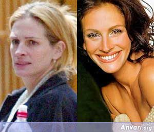 Julia-Roberts Without Makeup - Stars without Make Up