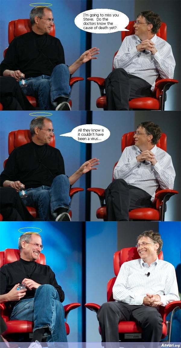 Steve Jobs Tells Bill Gates a Joke - Steve Jobs Jokes