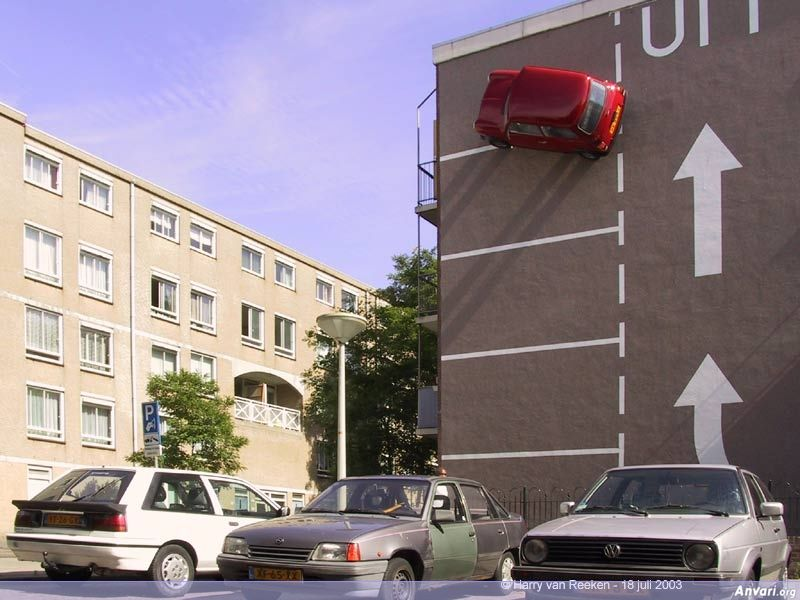 Wall Parking 1 - Strange Statues around the World 2