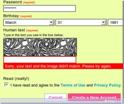 hardtoguess - Strangest Captchas on the Web
