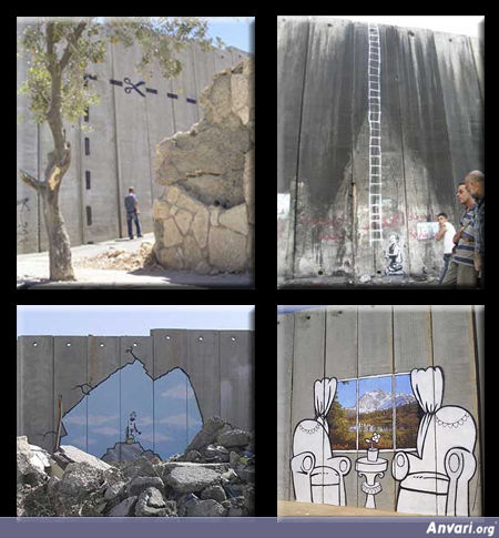 Banksy At The West Bank Barrier - Street Art By Bansky