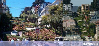 The Most Winding Road Lomboard Street San Francisco California 2 - The Most Unusual Roads in the World