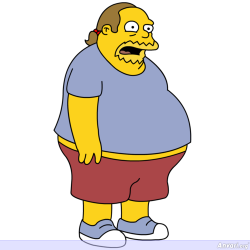 Jeff Albertson the Comic Book Guy - The Simpsons Characters Picture Gallery