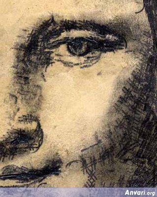 Detail Mona Lisa (La Gioconda, La Joconde) - Typewritter ASCII Art