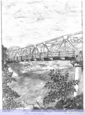 Stewart Park Bridge Across The Umpqua River - Typewritter ASCII Art
