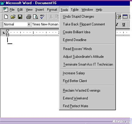 MS Word Menu Tools - Computer