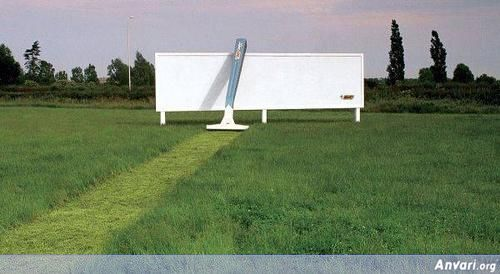 Outdoor Advertising Billboard Bic Razor - Funny Billboard Ads