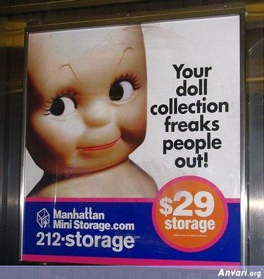Outdoor Advertising Doll Collection - Funny Billboard Ads