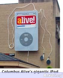 Outdoor Advertising Small Giant Ipod Billboard - Funny Billboard Ads