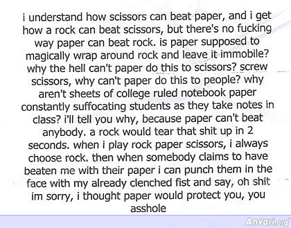 Rock Paper Scissors - Misc
