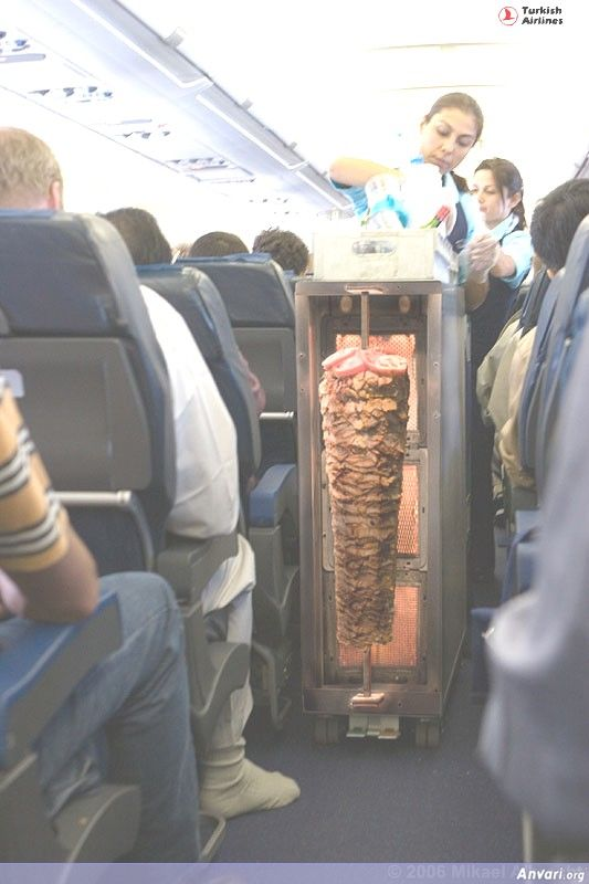 Turkish Kabob Gyros in the Airplane - Misc
