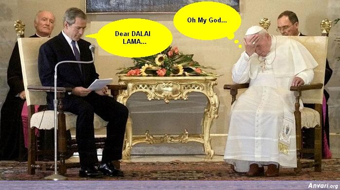 Bush and Pope - Political