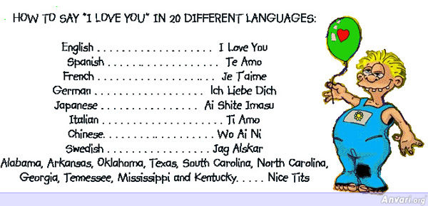 Love You in 20 Languages - I Love You in 20 Languages