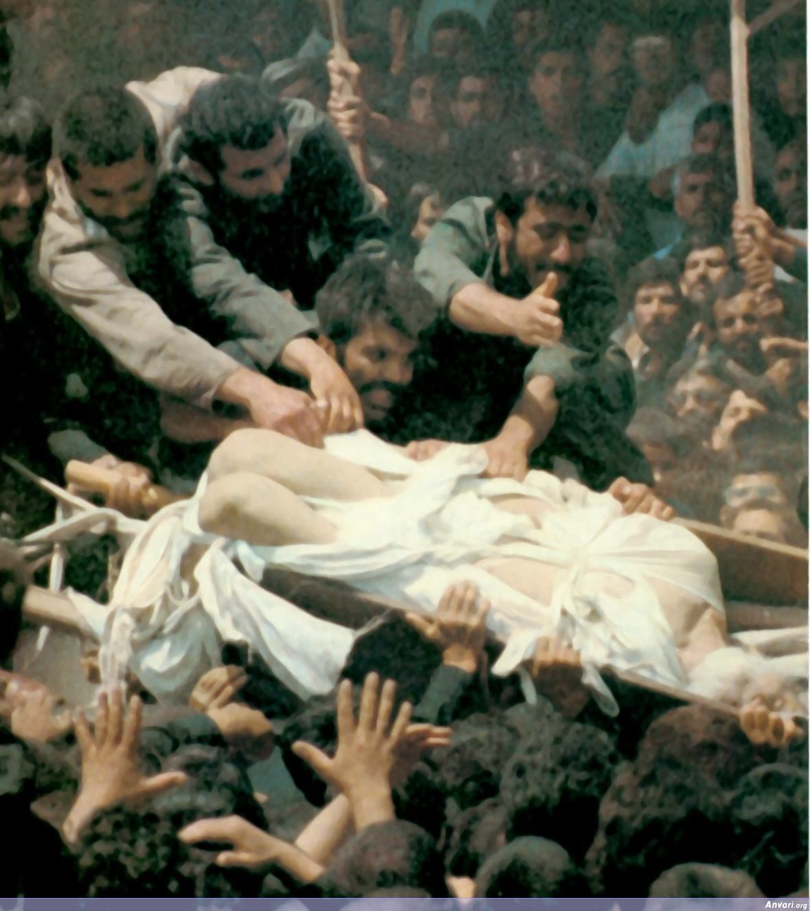 Khomeini Funeral - Tearing Up His Shroud - Khomeini Funeral - Tearing Up His Shroud